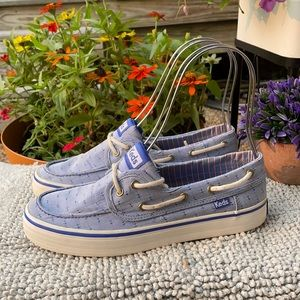 ⭐️KEDS Blue and White Loafer Boat Shoes
